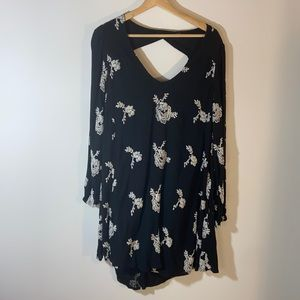 Free People Flowy Floral Embroidered Dress